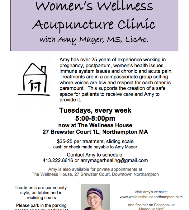 Women's Wellness Acupuncture Clinic Location Change